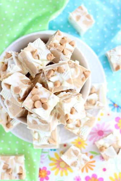 White Chocolate Peanut Butter Cup Fudge Picture