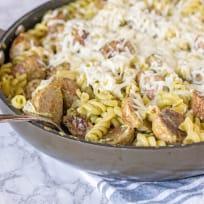 Pesto Pasta with Meatballs Recipe