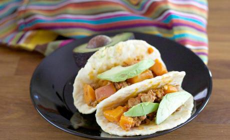 Sweet Potato Chorizo Breakfast Tacos