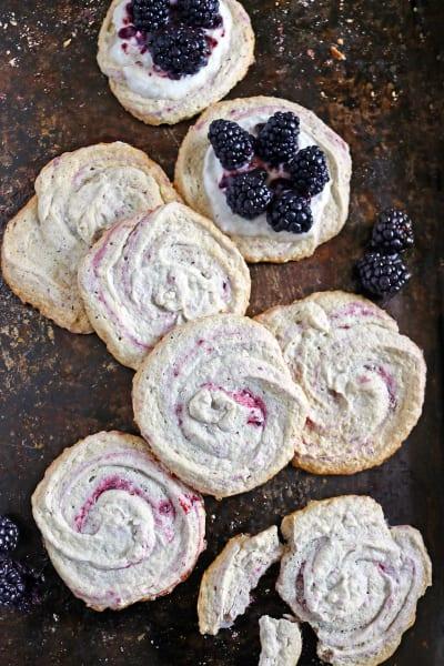 Blackberry Meringue Cookies Pic