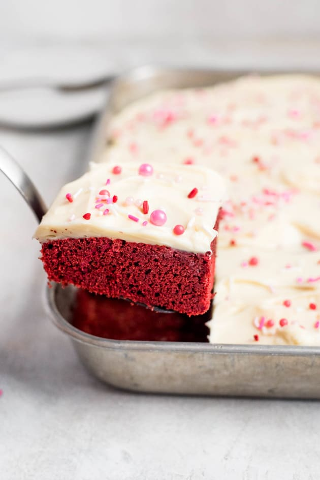 Red Velvet Sheet Cake Pic