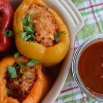 Crock Pot Chicken Enchilada Stuffed Peppers Recipe