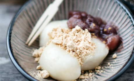 Kinako Mochi with Red Bean Paste Recipe
