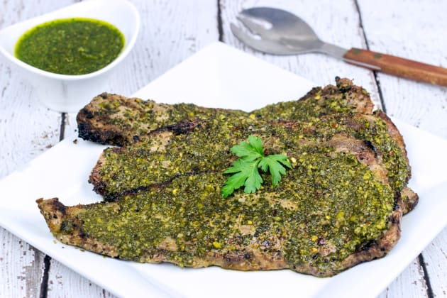 Grilled Chimichurri Steaks Photo