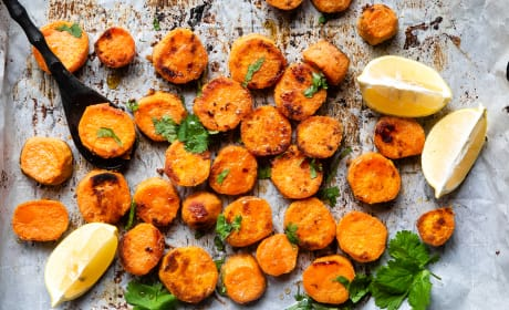Roasted Tahini Maple Sweet Potatoes Recipe
