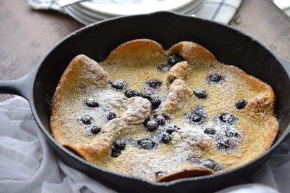 Gluten Free Blueberry Dutch Babies