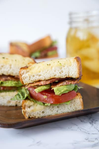 Garlic Bread BLT Picture