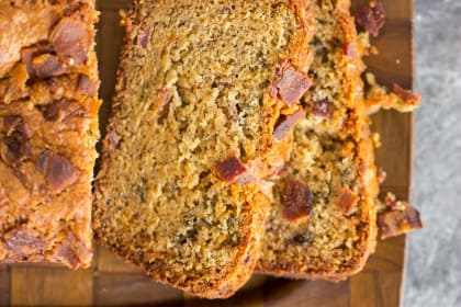 Bacon Peanut Butter Banana Bread