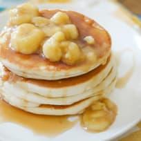 Gluten Free Bananas Foster Pancakes Recipe