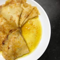 Classic Crepes Suzette with Rum