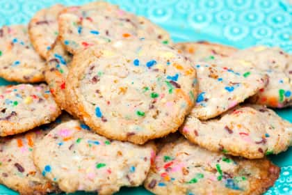 Frosted Flake Funfetti Cookies