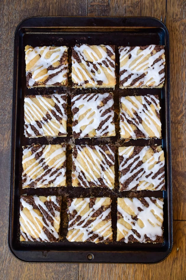 Banana Nutella Snack Cake Picture