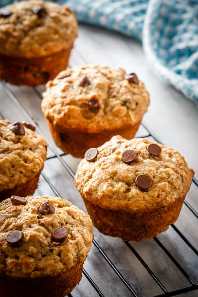 Chocolate Chip Banana Oatmeal Muffins Picture