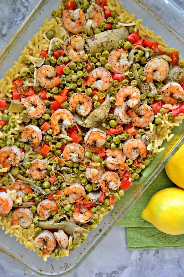 One Pan Lemon Artichoke & Shrimp Orzo Image