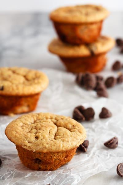Peanut Butter Banana Blender Muffins Image