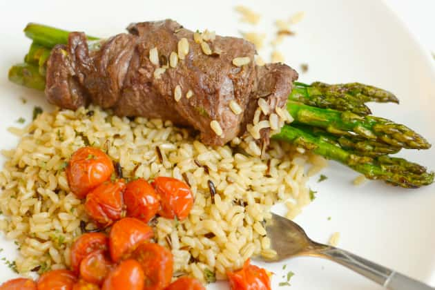 Steak Wrapped Asparagus Photo