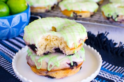 Blueberry Key Lime Donuts