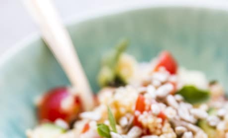 Mediterranean Chopped Chickpea Couscous Salad Image