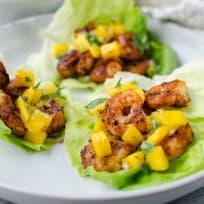 Paleo Blackened Shrimp Lettuce Wraps with Mango Salsa Recipe