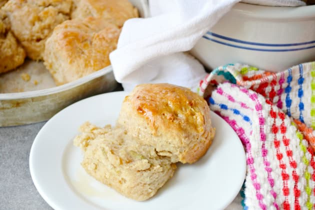 Apple Biscuits with Honey Butter Glaze Image