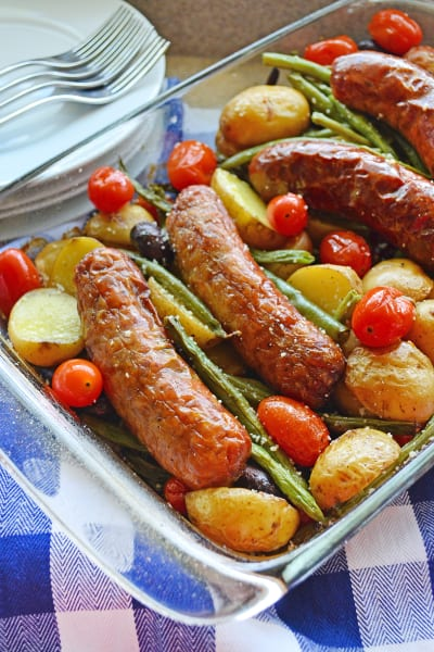 Sausage Potato & Green Bean Bake Picture