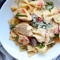 Instant Pot Chicken Florentine Pasta Recipe