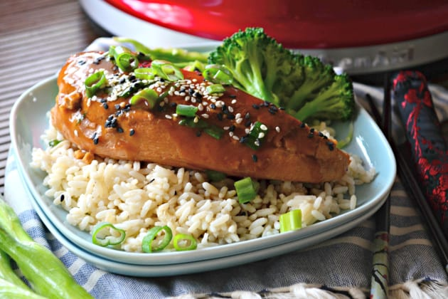 Slow Cooker Ginger Sesame Chicken Image