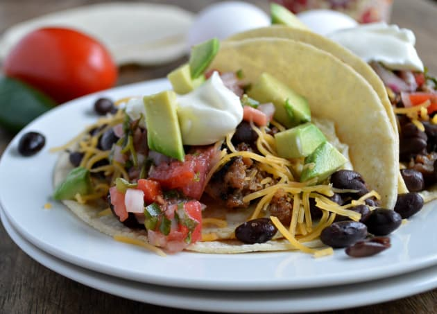 Sausage Breakfast Tacos Photo