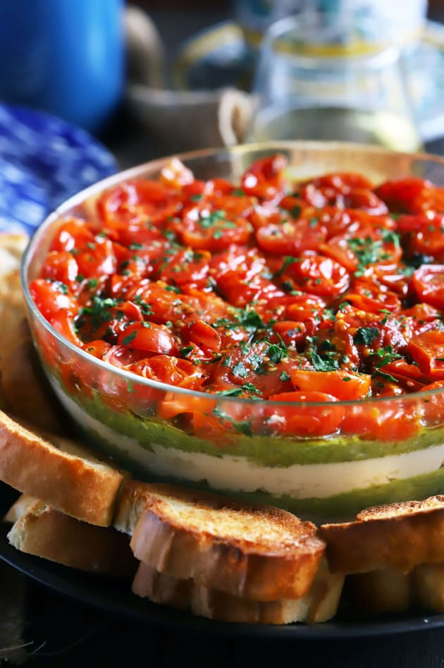 Avocado Ricotta Tomato Pesto Layer Dip Picture