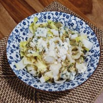 Endive Salad with Blue Cheese & Dressing