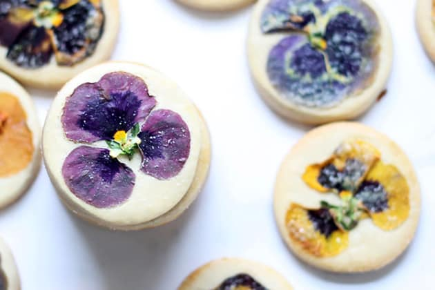 File 5 - Orange Cookies with Edible Flowers
