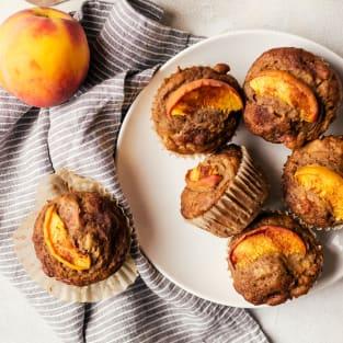 Peach cinnamon muffins photo