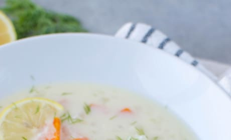 Paleo Greek Lemon Chicken Soup Image