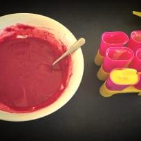 Greek Yogurt & Berry Pops