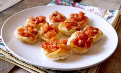 Upside Down Tomato Basil Tartlets Recipe