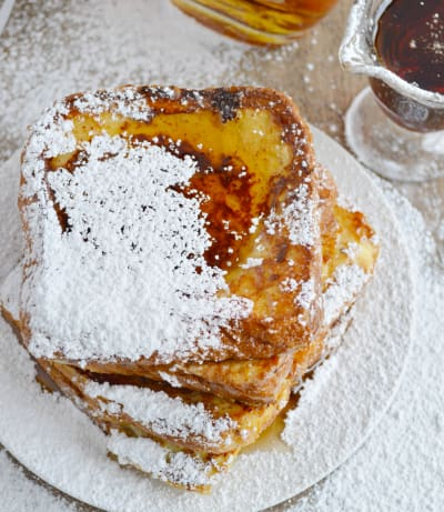 French Toast with Warm Bourbon Vanilla Syrup Pic
