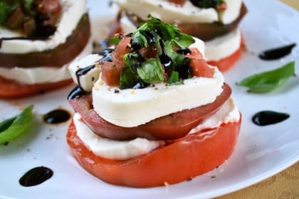 Caprese Tomato Stacks Recipe