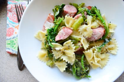 Broccoli Pasta with Kielbasa
