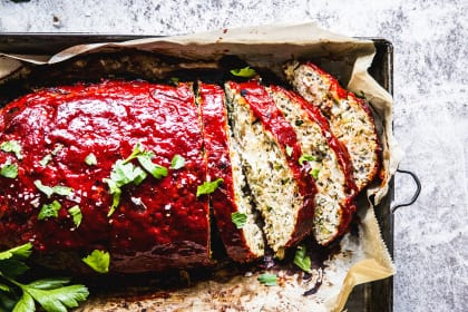 Greek Turkey Zucchini Meatloaf