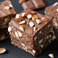 Gluten Free Chocolate Almond Oat Bars Recipe