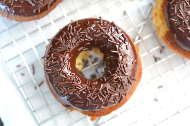Lemon Donuts with Chocolate Glaze Recipe