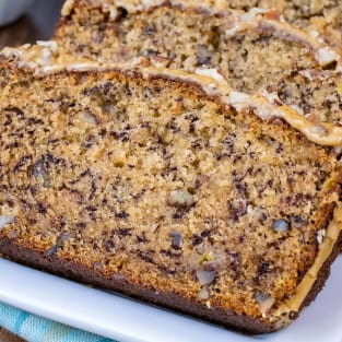 Maple pecan banana bread photo