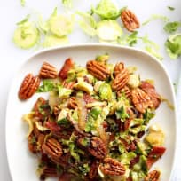 Maple Bourbon Bacon Pecan Brussel Sprout Salad