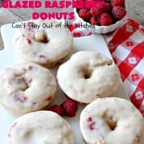 Glazed Raspberry Donuts