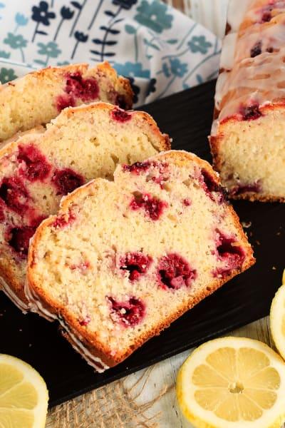 Glazed Raspberry Lemon Bread Picture