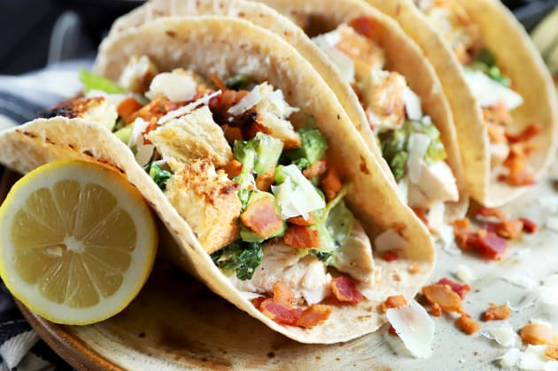 Charred Caesar Salad Avocado Tacos Photo