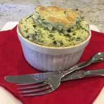 Kale & Cheddar Soufflé