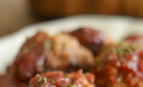 Gluten Free Slow Cooker Tangy Turkey Meatballs Pic