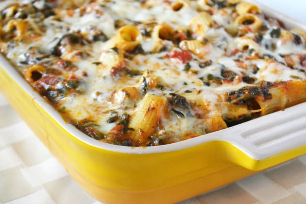 Baked Spinach Rigatoni Photo