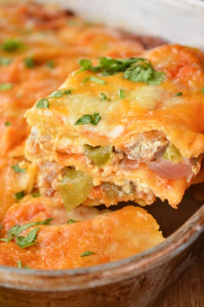 File 2 Enchilada Breakfast Casserole